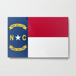 Flag of North Carolina Metal Print