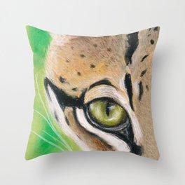 Ocelot Eye Soft Pastel Art Throw Pillow