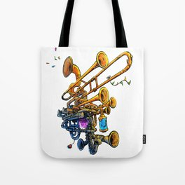 Music Brass Machine Tote Bag