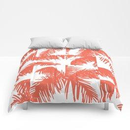 Palm Leaf Pattern Orange Comforters