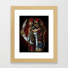 Klepto and Hoops Framed Art Print