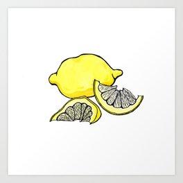 Trois Citrons 3 Art Print