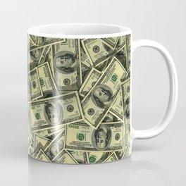 100 dollar cash get rich Coffee Mug