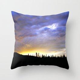 Heart of Light Above the Dark Mountain Throw Pillow