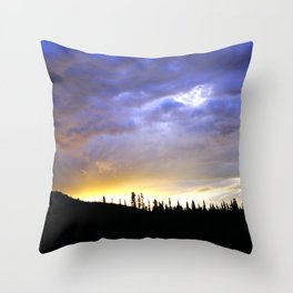 Heart of Light Above the Dark Mountain Throw Pillow