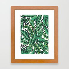 Tropical Glam Banana Leaf Print Framed Art Print