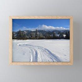 Winter mountains Framed Mini Art Print