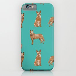 Australian Cattle Dog red heeler love dog breed gifts cattle dogs by pet friendly iPhone Case