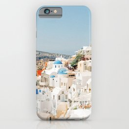 Colorful View of Santorini, Greece iPhone Case
