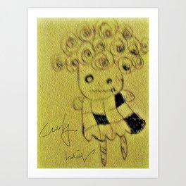 """Curly hair""celebrity Art Print"