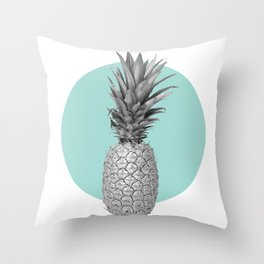 silver pineapple Throw Pillow