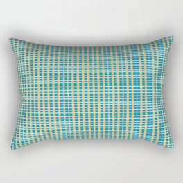 Plaid Lines in Blue Rectangular Pillow