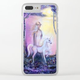 Princess and Unicorn Clear iPhone Case