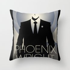 Phoenix Wright - 10th Anniversary Print Throw Pillow