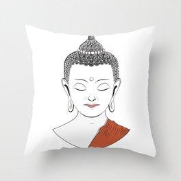 Life of Buddha Throw Pillow