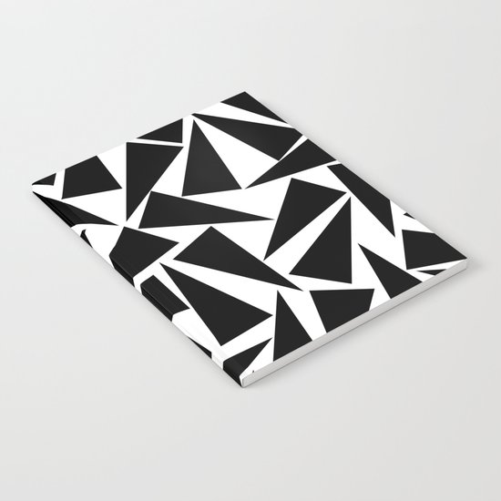 black triangle pattern Notebook