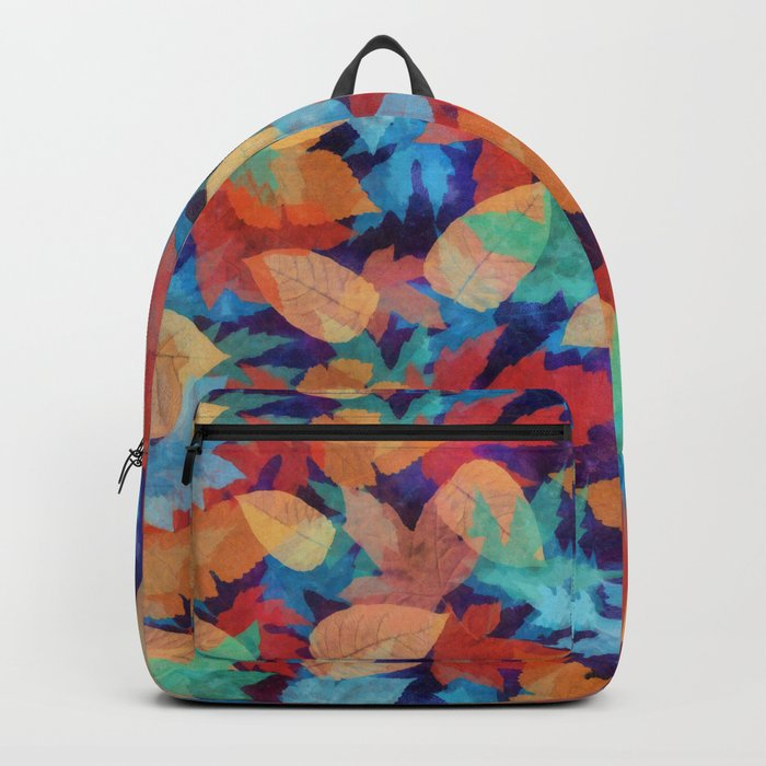 Colorful fallen leaves Backpack