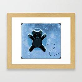 Ecstatic Bear Framed Art Print