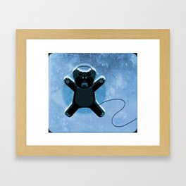 Ecstatic Bear Framed Art Print
