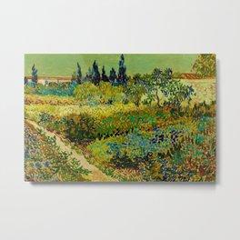 The Garden at Arles, France by Vincent Van Gogh Metal Print