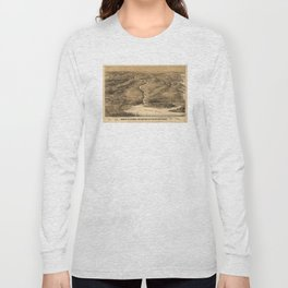 Vintage Pictorial Map of DC, Maryland & Northern VA Long Sleeve T-shirt