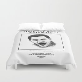 """""""Twin Peaks"""" - Have you seen this man? Duvet Cover"""