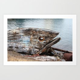 Fish Boat Art Print