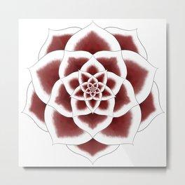 Stargazer Lily Mandala Metal Print
