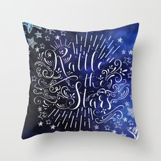 Rattle The Stars - Blue Throw Pillow