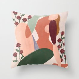 But first love yourself Throw Pillow