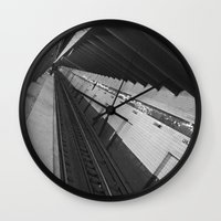 subway Wall Clocks featuring Subway by Laura Gomez
