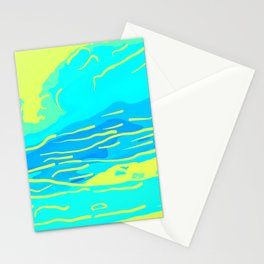 abstract style aurora borealis absbryi Stationery Cards