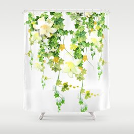Watercolor Ivy Shower Curtain