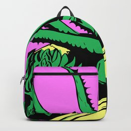 Green & Pink Aloe Succulents  Backpack