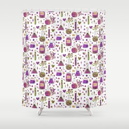 Galaxy Potions - Magenta Palette Shower Curtain