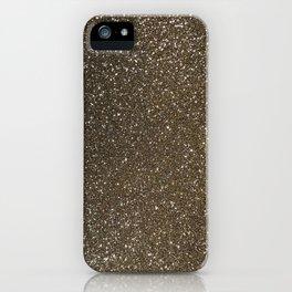 Bronze Gold Burnished Glitter iPhone Case