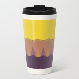 Geometric Sunset Print Travel Mug