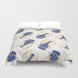 Cicada – Navy & Gold Duvet Cover