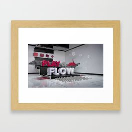 Play & Flow Framed Art Print