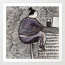 CafeLady Art Print
