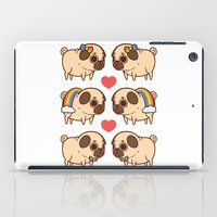 asexual iPad Cases featuring Puglie Pride by Puglie Pug