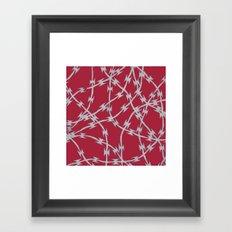 Trapped Red Framed Art Print