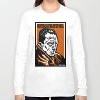 camus Long Sleeve T-shirts featuring ALBERT CAMUS QUOTATION by Lestaret