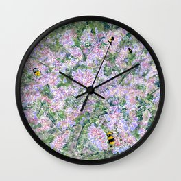 Bees Love Lavender Wall Clock