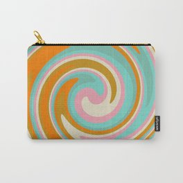 Swirl 70s retro abstract Carry-All Pouch