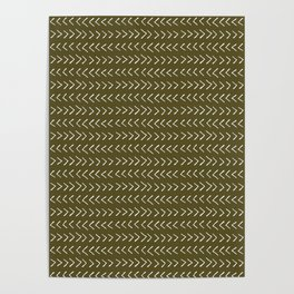 Arrows on Bronze-Olive Poster