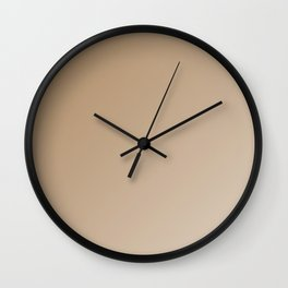 Fabulous iced coffee ombre gradient Wall Clock