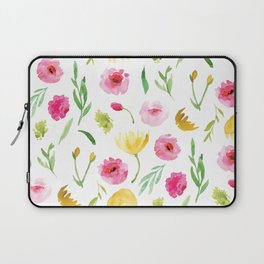 Yellow and Pink Florals Laptop Sleeve