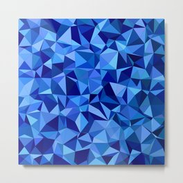 Blue tile mosaic Metal Print