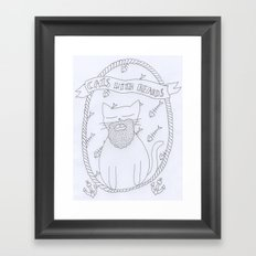 cats with beards Framed Art Print